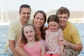 Felice famiglia allargata — Foto Stock
