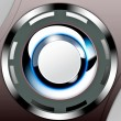 Technical steel push button background — Stock Photo