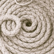 The braided ship rope - Stock Photo