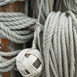Rigging of ancient sailing vessel — Stock Photo #10989048