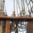 Rigging of ancient sailing vessel — Stock Photo #11088576