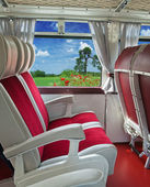 Interior of the old tourist bus — Stock Photo
