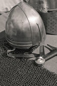The knightly weapon and armour — Stock Photo