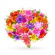 Summer Sale bubble, Colorful flowers. — Cтоковый вектор
