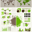 Green energy and ecology Infographic - Imagen vectorial