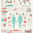 Medical Infographic set with charts - Stok Vektör