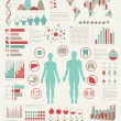 Medical Infographic set with charts - Grafika wektorowa