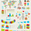 Back to school Infographic set — Stock Vector
