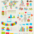 Back to school Infographic set - Stock Vector