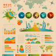 Travel Infographic set with charts — Stockvektor