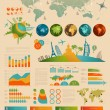 Travel Infographic set with charts — Imagen vectorial
