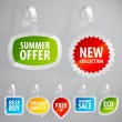 Set of colorful advertising stickers. - Vettoriali Stock 