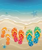 Cartão de férias — Vetorial Stock