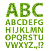 Green Leaves font — Vector de stock