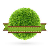 Eco amigable etiqueta — Vector de stock