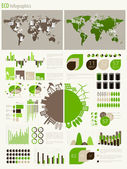 Green energy and ecology Infographic — Vettoriale Stock