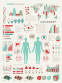 Medical Infographic set with charts — Vector de stock