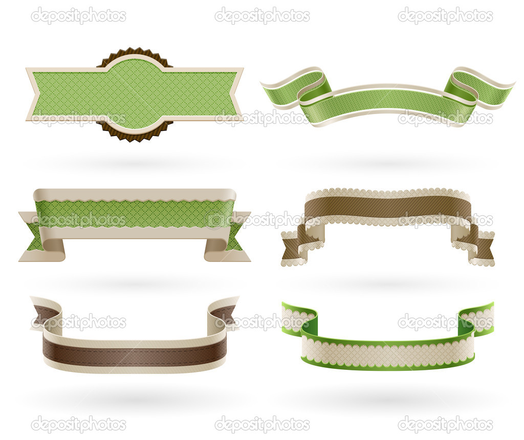 Set of retro Eco ribbons. Vector illustration.  Stock Vector #12028501
