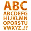 Stockvector : Autumn Leaves font