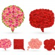 Set of rose bubbles for speech. — Stockvector