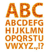 Autumn Leaves font — Stock Vector