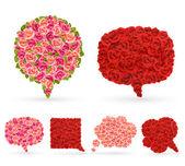 Conjunto de burbujas de color de rosa para el discurso. — Vector de stock