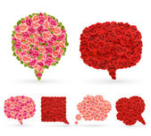 Set of rose bubbles for speech. — Stock Vector