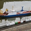 Stock Photo: Thumbnail ship and rail in park Madurodam. Netherlands, Den