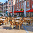Street cafe on square in Gorinchem. Netherlands — Stock Photo #11345436