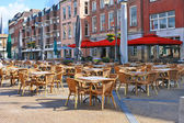 Street cafe on the square in Gorinchem. Netherlands — Stockfoto