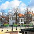 A typical Dutch landscape of the town. Gorinchem, Netherlands — Stock Photo #11374857