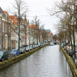Stock Photo: Canal in Delft, Holland