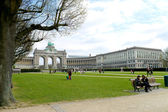 Cinquantennaire Park in Brussels in spring — Stock Photo