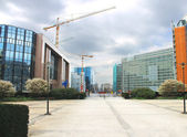 New buildings in Brussels. The European Parliament, Belgium — Stock Photo