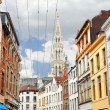 On the streets of Brussels. Belgium - Stock Photo