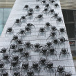 Spiders in the area of Rotterdam. Modern abstract art. Netherlan - Stock Photo