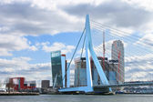 Erasmus Bridge in Rotterdam . Netherlands — Stock Photo