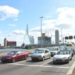 Highway near the bridge Erasmus of Rotterdam. Netherlands - Stock Photo