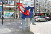 Rotterdam, Netherlands – April 01: Abstract sculpture on the s — Stock Photo