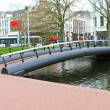Bridge over canal in Rotterdam. Netherlands — Stock Photo