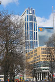 ROTTERDAM, NETHERLANDS – APRIL 1: Modern building center on 01 — Fotografia Stock