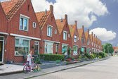 In the courtyard of a typical Dutch house. Netherlands — Stock Photo