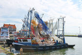 Fishing ships in the port of Volendam. Netherlands — Stock Photo