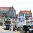 In the port of Volendam. Netherlands — Stock Photo
