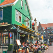 Stock Photo: Tourists at restaurant in Volendam. Netherlands