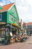 Tourists at a restaurant in Volendam. Netherlands — Stock Photo