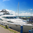 Yachts in the port of Volendam. Netherlands - Stock Photo