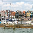 Ships in the port of Volendam. Netherlands — Stock Photo