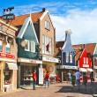 Volendam on the street. Netherlands - Stock Photo