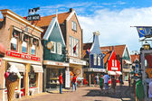 Volendam on the street. Netherlands — Stock Photo